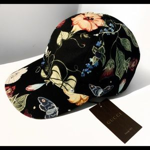 9f2fd713ab51e Gucci Black Flora Knight Canvas Baseball Hat M
